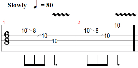 Open e slide licks tab