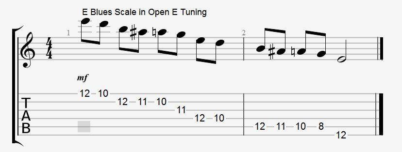 Slide guitar lesson blues scale in open e tuning - Open e scales ...