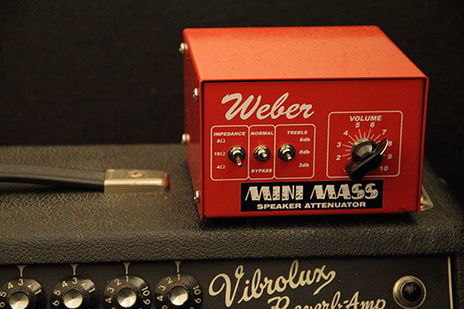 Weber Attenuator Settings