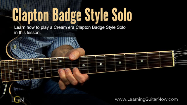 New Clapton Badge Style Lesson