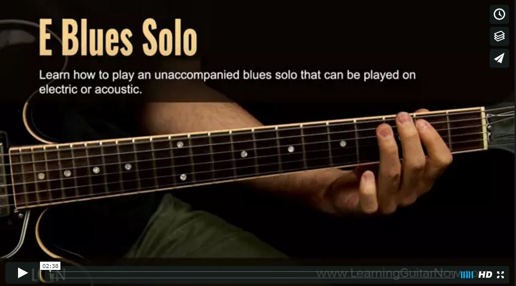 New Course Available – Unaccompanied Blues Solo