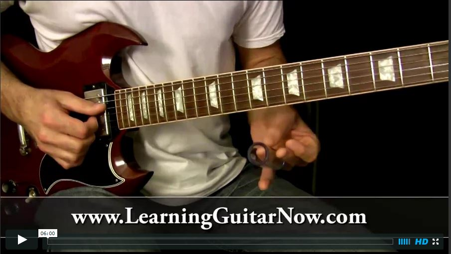 Video Podcast 46:  Standard Tuning Slide Guitar Lesson