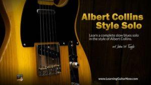 Albert Collins Style Solo