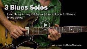 3 Blues Solos