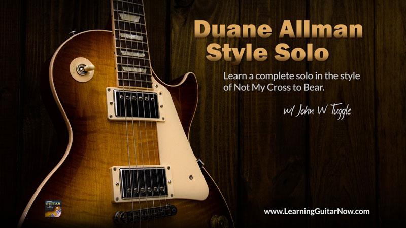 Duane Allman Style Lesson