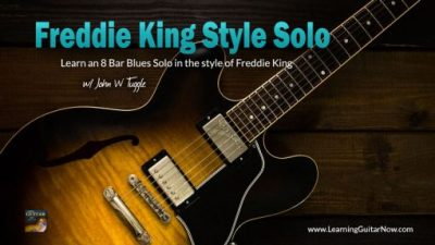 Freddie King Style Solo