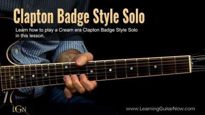 Clapton Cream Style Lesson