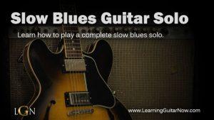 Slow Blues Solo