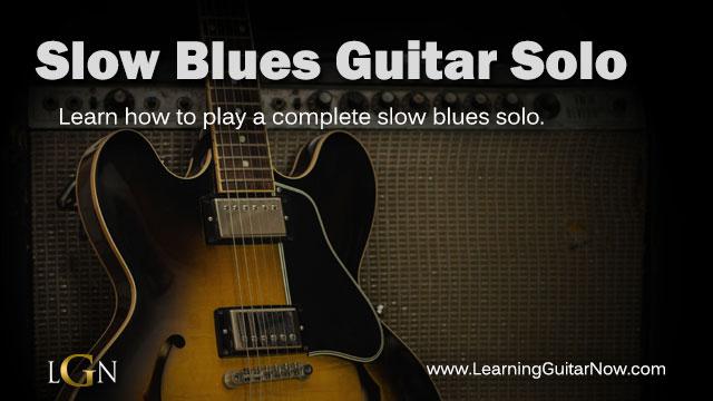 Slow blues lick
