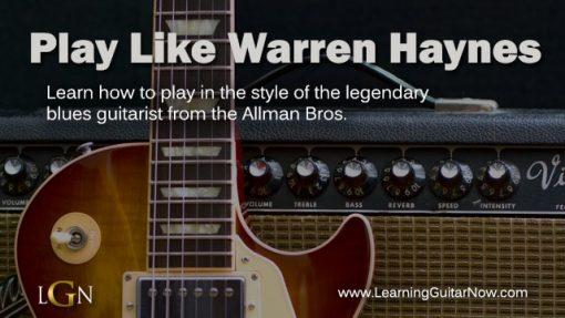 Play Like Warren Haynes