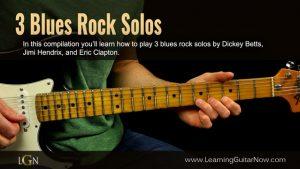 Three Blues Rock Solos
