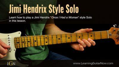 Jimi Hendrix Slow Blues Lesson