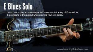 E Unaccompanied Blues Solo