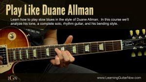 Play Like Duane Allman