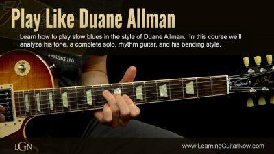 Duane Allman Slow Blues Lesson