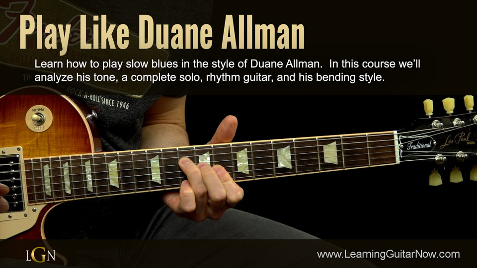 Duane Allman Slow Blues Lesson
