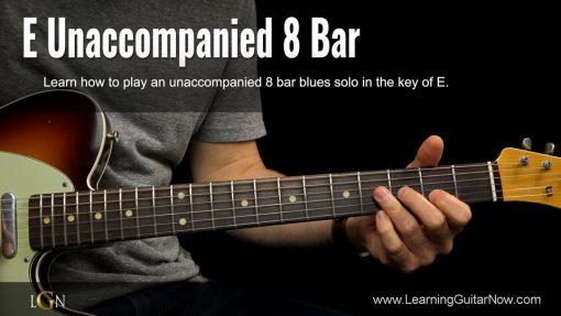 E Unaccompanied 8 Bar