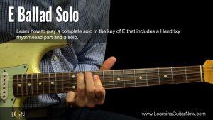E Ballad Solo