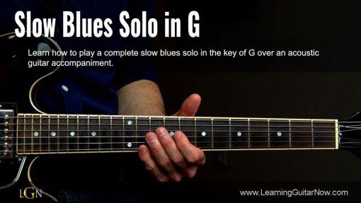 Slow Blues Solo in G