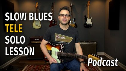 Slow Blues Tele Solo Podcast 38