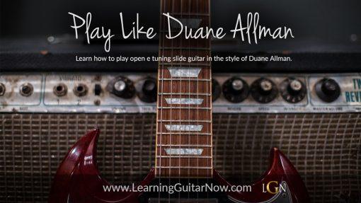 Play Like Duane Allman - Slide