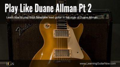 Duane Allman Soul Serenade Lesson