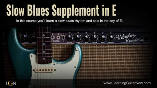 Slow Blues Supplement in E Solo